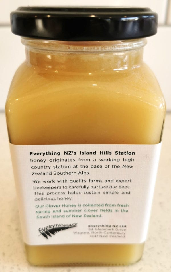 Clover Honey Description - Island Hills Station