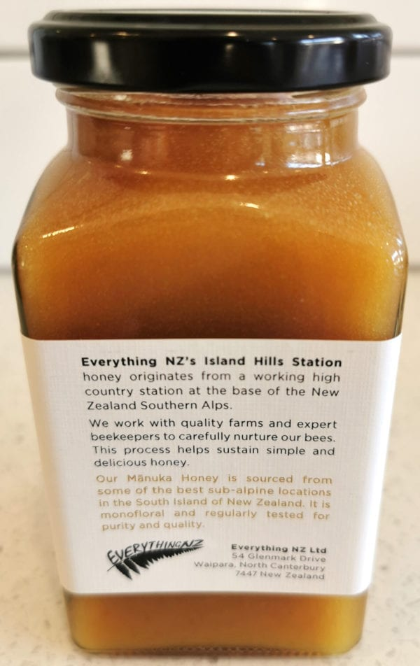 Manuka Honey Description - Island Hills Station